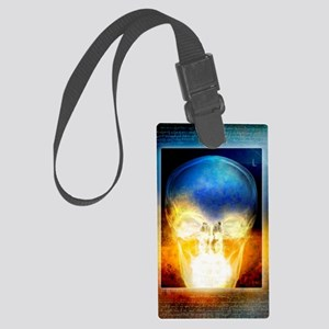 Skull, coloured X-ray Large Luggage Tag