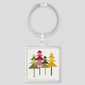 Pine Street Square Keychain
