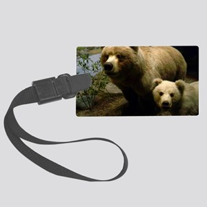 Momma Bear and Cub Large Luggage Tag