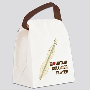 Mountain Dulcimer Player Canvas Lunch Bag