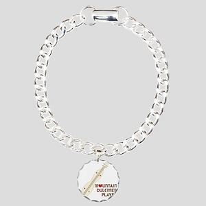 Mountain Dulcimer Player Charm Bracelet, One Charm