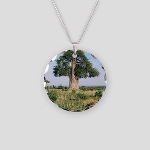 Baobab tree (Adansonia digit Necklace Circle Charm