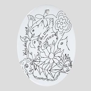 Value Chiaroscuro Oval Ornament