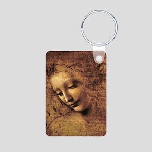 Leonardo Da Vinci La Scapi Aluminum Photo Keychain