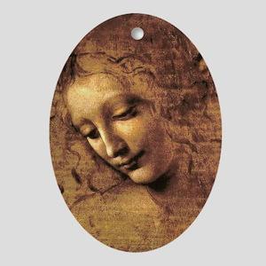 Leonardo Da Vinci La Scapigliata Oval Ornament