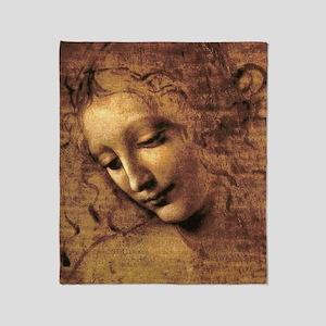 Leonardo Da Vinci La Scapigliata Throw Blanket