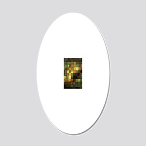 Paul Klee Ancient Sounds 20x12 Oval Wall Decal