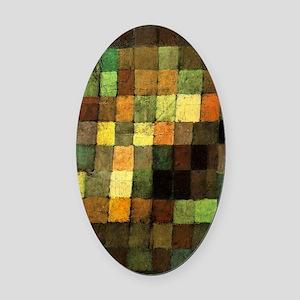Paul Klee Ancient Sounds Oval Car Magnet