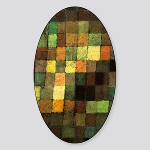 Paul Klee Ancient Sounds Sticker (Oval)