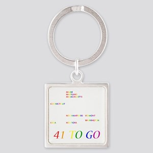 Gay Marriage Square Keychain