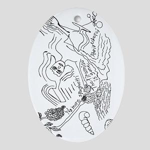 Tiramisu Arrivederci Oval Ornament