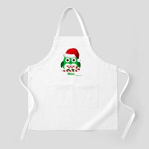 Christmas Owl Hoo Hoo Hoo Apron