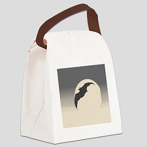 Bat Silhouette Canvas Lunch Bag