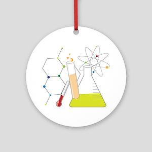 Chemistry Stuff Round Ornament