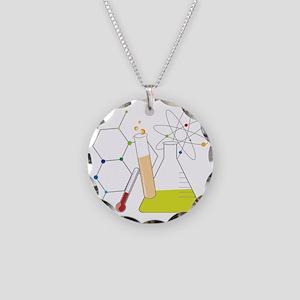 Chemistry Stuff Necklace Circle Charm