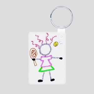 Tennis Girl - ArtinJoy Aluminum Photo Keychain