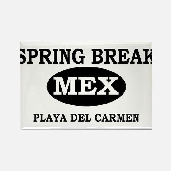 Spring Break Playa Del Carmen Rectangle Magnet