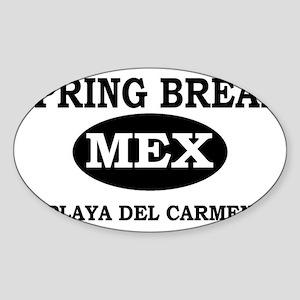 Spring Break Playa Del Carmen Oval Sticker