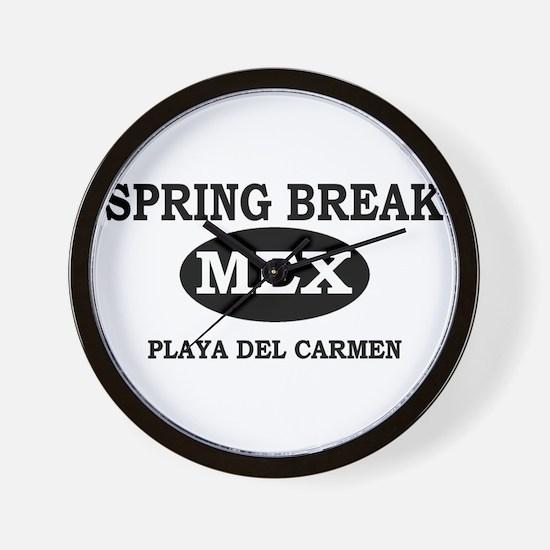 Spring Break Playa Del Carmen Wall Clock
