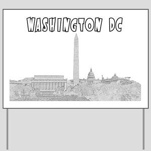WashingtonDC_Rectangle_Black Yard Sign