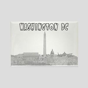 WashingtonDC_Rectangle_Black Rectangle Magnet