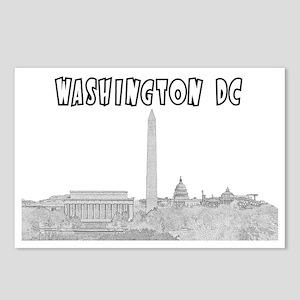 WashingtonDC_Rectangle_Bl Postcards (Package of 8)
