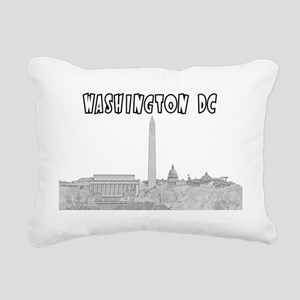 WashingtonDC_Rectangle_B Rectangular Canvas Pillow