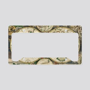 Vintage Map License Plate Holder