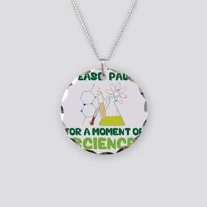 Please Pause Necklace Circle Charm