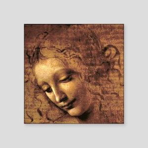 "Leonardo Da Vinci La Scapig Square Sticker 3"" x 3"""