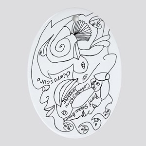 Sienna Chiaroscuro Oval Ornament