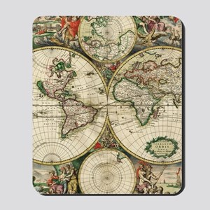 Vintage Map Mousepad