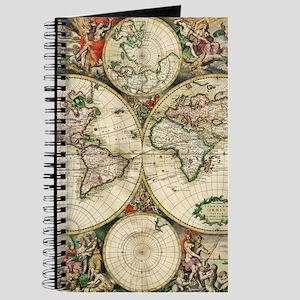 Antique world map notebooks cafepress vintage map journal gumiabroncs Choice Image
