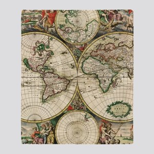 Old world map blankets cafepress vintage map throw blanket gumiabroncs Images