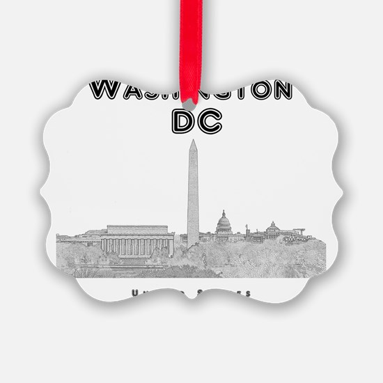 WashingtonDC_10x10_Skyline1_Black Ornament