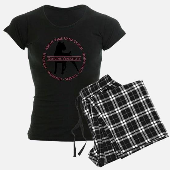 About Time Cane Corso Logo Pajamas