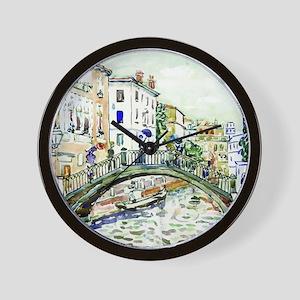 Maurice Prendergast Little Bridge Wall Clock