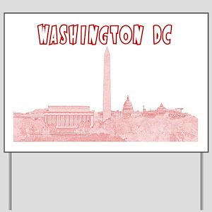 WashingtonDC_Rectangle_Red Yard Sign
