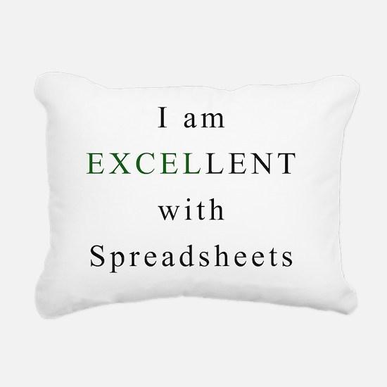 Excellent Spreadsheets Rectangular Canvas Pillow
