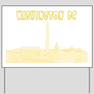 WashingtonDC_Rectangle_Yellow Yard Sign