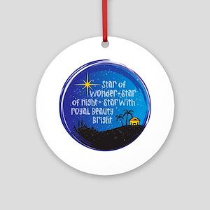 Star of Wonder Round Ornament