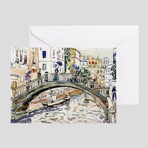 Maurice Prendergast Little Bridge Greeting Card