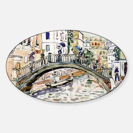 Maurice Prendergast Little Bridge Sticker (Oval)
