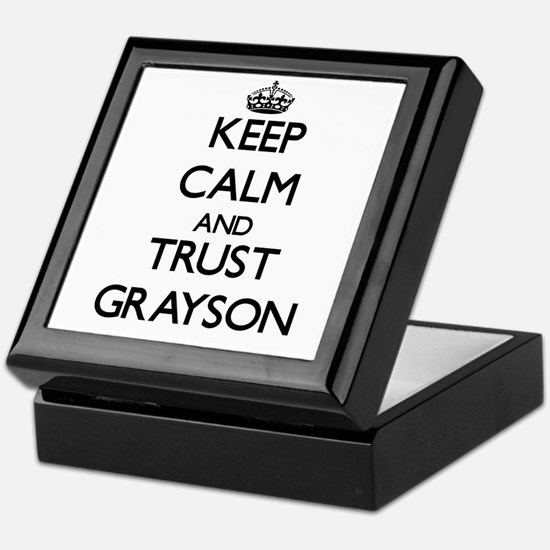 Keep Calm and TRUST Grayson Keepsake Box