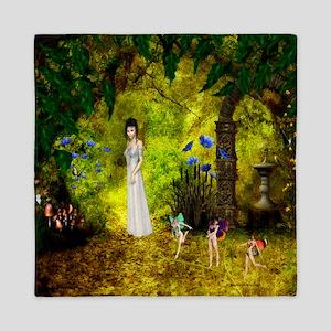 Visit to the Fairiy Garden Queen Duvet