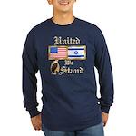 US & Israel United Lng Slv Dark Tee