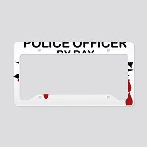 Police Officer Zombie License Plate Holder