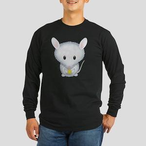 Little White Mouse Long Sleeve Dark T-Shirt