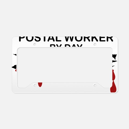 Postal Worker Zombie License Plate Holder