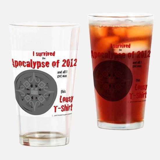 Apocalypse Survivors Shirt Drinking Glass